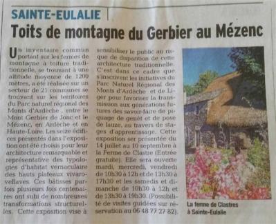 Séverine Le Goff, article du Dauphiné 13 juillet 2015