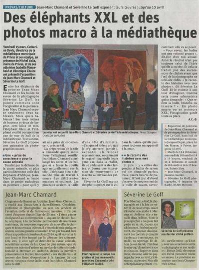 Séverine Le Goff, article du Dauphiné 19 mars 2019