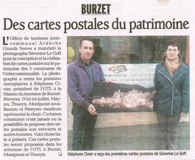 Séverine Le Goff, article du Dauphiné mai 2013