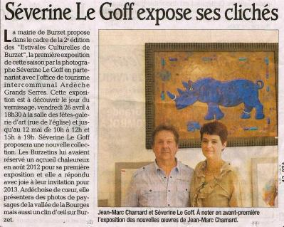 Séverine Le Goff, article du Dauphiné 25 avril 2013