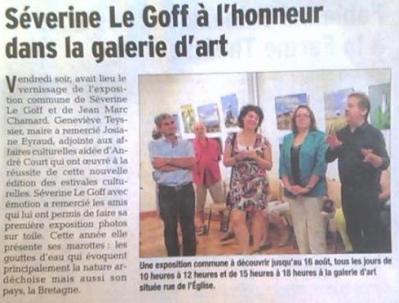 Séverine Le Goff, article du Dauphine 3 août 2015