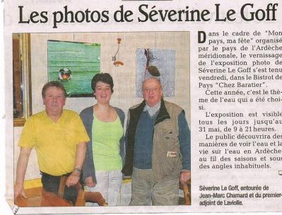 Séverine Le Goff, article du Dauphiné 4 mai 2013