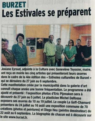 Séverine Le Goff, article du Dauphiné juin 2015