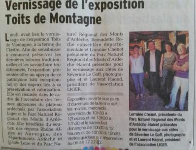 Séverine Le Goff, article du Dauphiné 15 juillet 2015