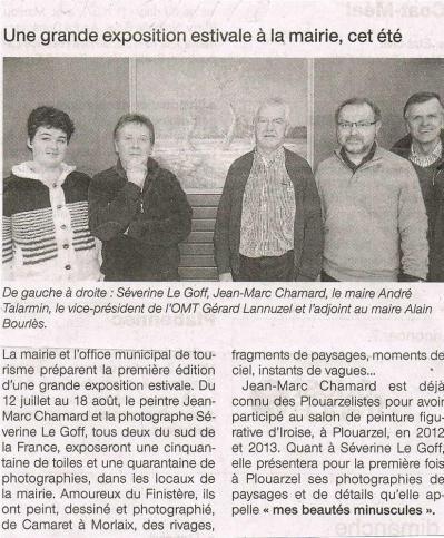 Séverine Le Goff, article de Ouest France 6 janvier 2013