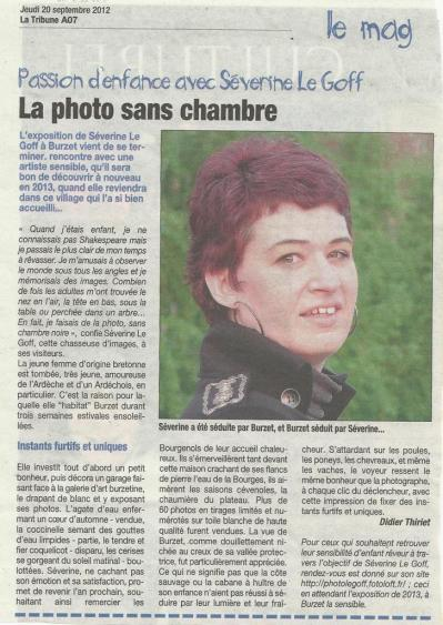 Séverine Le Goff, article de La Tribune septembre 2012