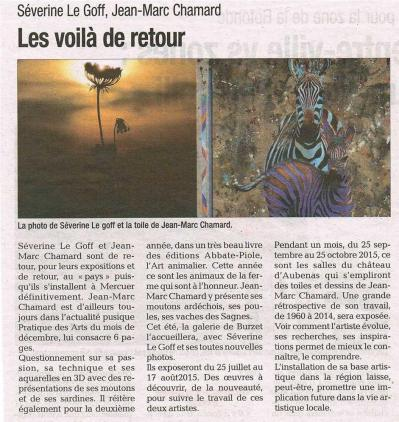 Séverine Le Goff, article de la Tribune décembre 2014
